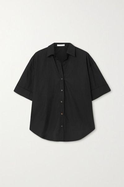 + Net Sustain Marquis Cotton-poplin Shirt - Black