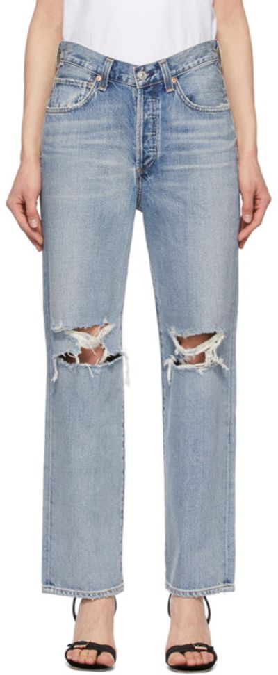 Blue Elle V-Front Jeans