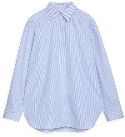 Relaxed Striped Poplin Shirt