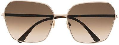 Square-Frame Gradient-Lens Sunglasses
