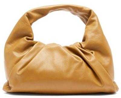 The Shoulder Pouch Small Leather Shoulder Bag - Olive Green