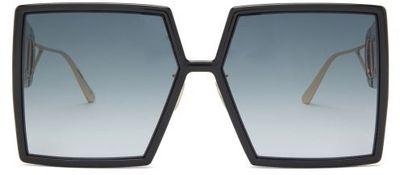 30montaigne Square Acetate Sunglasses - Black Grey