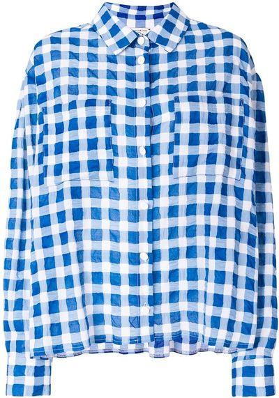 Patterned Oversized Shirt