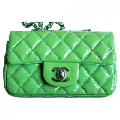 Timeless/Classique Green Patent leather Handbags