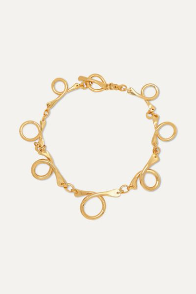Dunya Gold-plated Necklace - one size