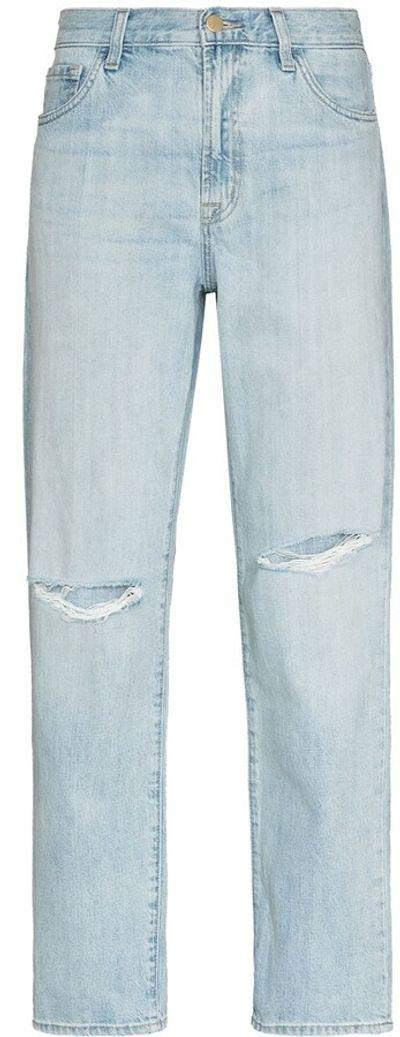 Tate ripped-detailing boyfriend jeans