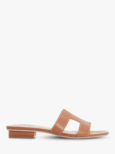 Loupe Flat Slider Sandals