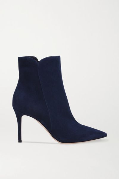 Levy 85 Suede Ankle Boots - Midnight blue