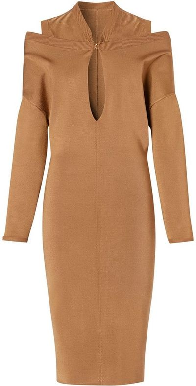 Cut-Out Detail Knitted Dress