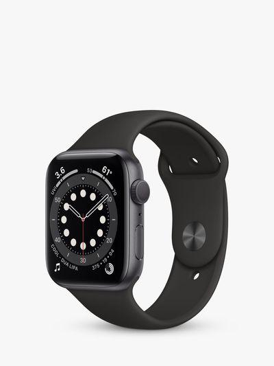 Watch Series 6 GPS, 44mm Space Grey Aluminium Case with Black Sport Band - Regular