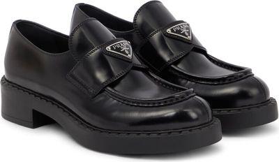 Platform leather loafers