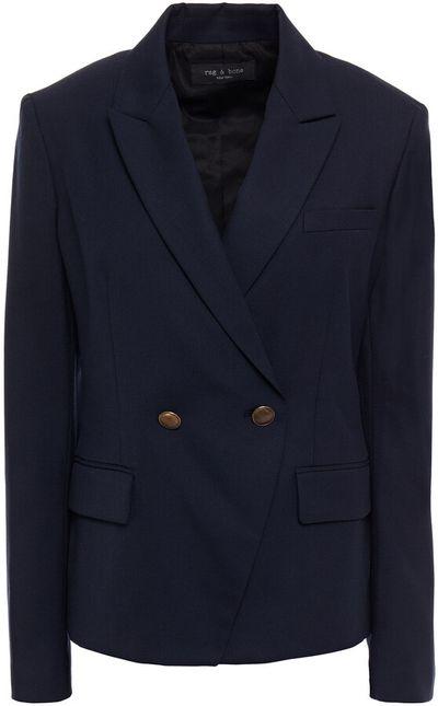 Fletcher Double-breasted Wool-blend Twill Blazer