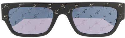 Rectangle-Frame Logo Sunglasses