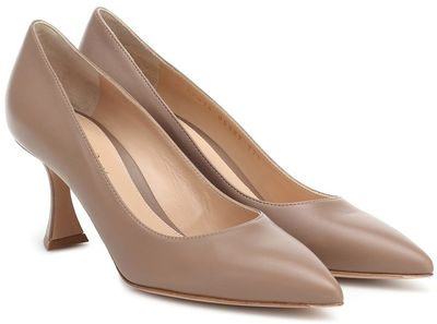 Triangle 70 leather pumps