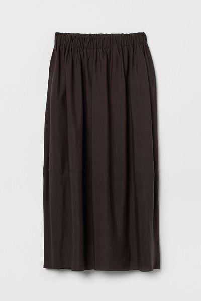 Lyocell-blend skirt