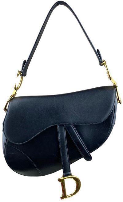 Saddle Black Leather Handbags