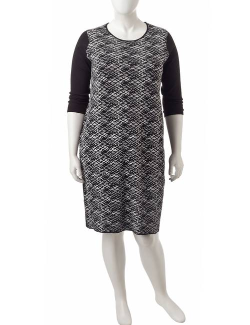 Connected Plus Size Knit Jumper Dress | Stage Stores
