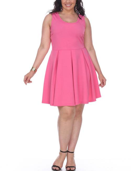 White Mark Plus Size Crystal Fit & Flare Dress   Stage Stores