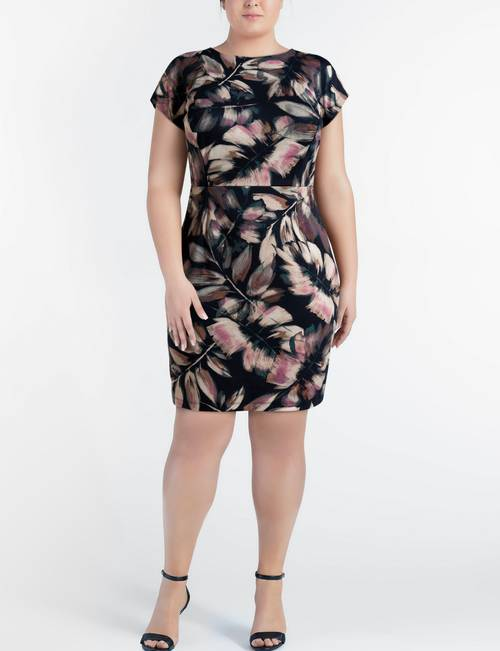 London Times Plus-size Tropical Midi Dress | Stage Stores