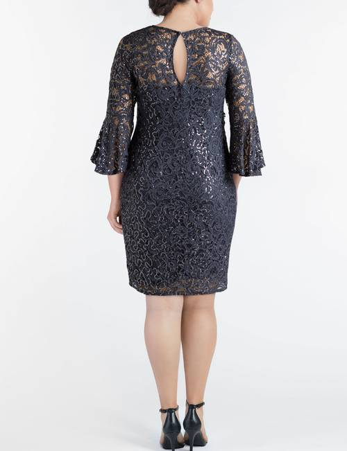 Marina Plus Size Lace Sheath Dress | Stage Stores