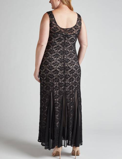 Onyx Nite Plus Size Glitter Lace Gown | Stage Stores