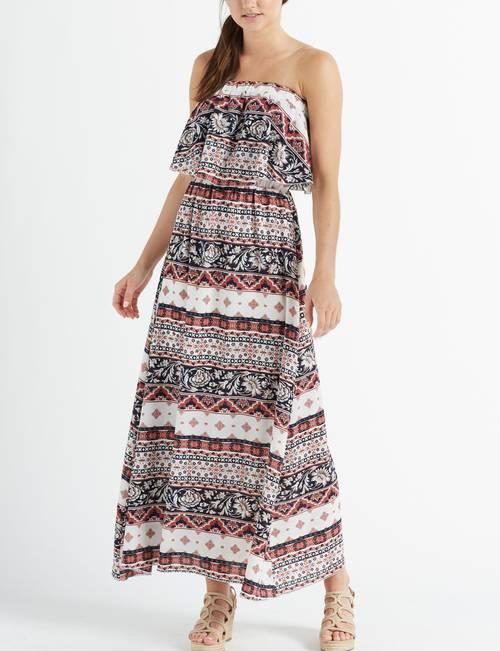 Wishful Park Juniors\' Plus Size Strapless Ruffle Maxi Dress ...