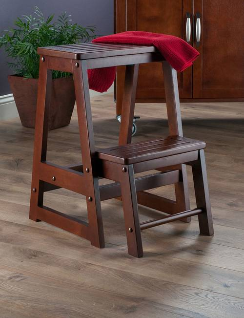 Excellent Winsome Double Step Stool Stage Stores Creativecarmelina Interior Chair Design Creativecarmelinacom