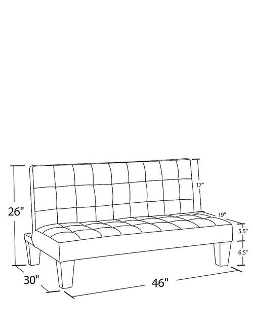Outstanding Dhp Ariana Junior Futon Pink Stage Stores Ibusinesslaw Wood Chair Design Ideas Ibusinesslaworg