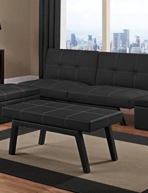 Wondrous Dhp Delaney Convertible Sofa Bed Black Stage Stores Inzonedesignstudio Interior Chair Design Inzonedesignstudiocom