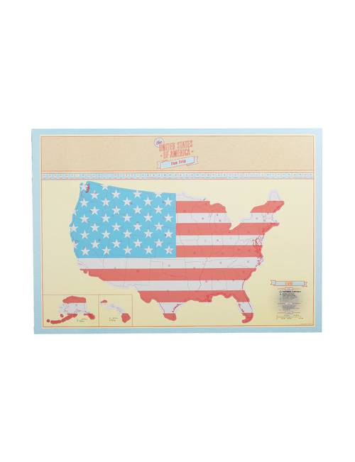 Two\'s Company USA Scratch Map | Stage Stores