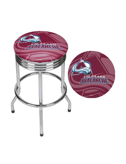 Fine Colorado Avalanche Chrome Ribbed Bar Stool Stage Stores Machost Co Dining Chair Design Ideas Machostcouk