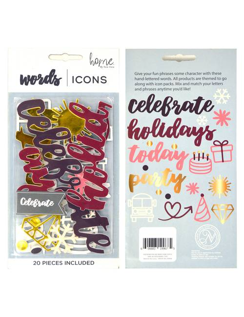 New View 23-pc  Party Words & Icons Letter Board Pack