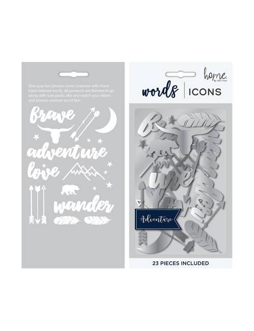 New View 23-pc  Adventure Icon Letterboard Pack | Stage Stores
