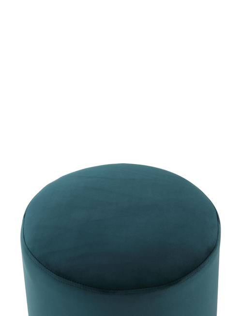 Terrific Inspired Home Caroline Emerald Round Ottoman Stage Stores Evergreenethics Interior Chair Design Evergreenethicsorg
