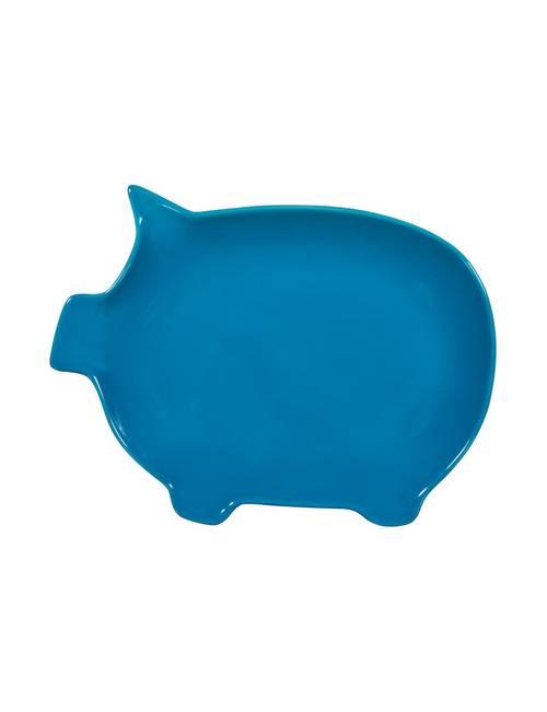 Home Essentials 12 Brights Aqua Pig Serving Platter Stage