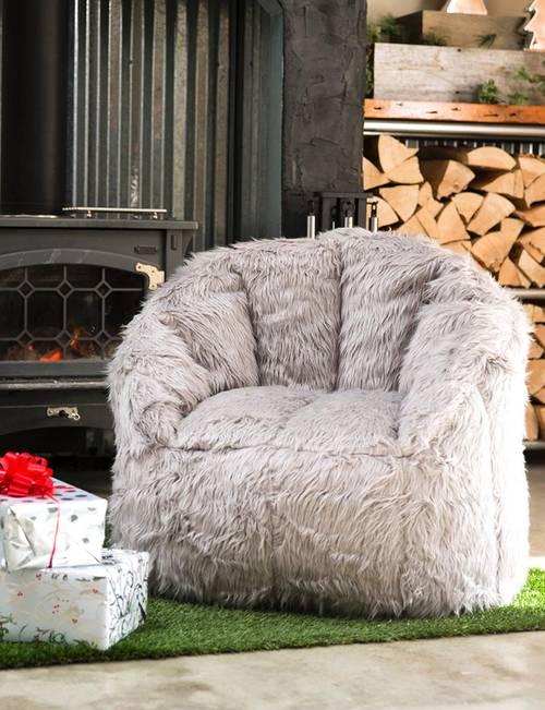 Tremendous Big Joe Milano Faux Fur Shag Bean Bag Chair Stage Stores Squirreltailoven Fun Painted Chair Ideas Images Squirreltailovenorg