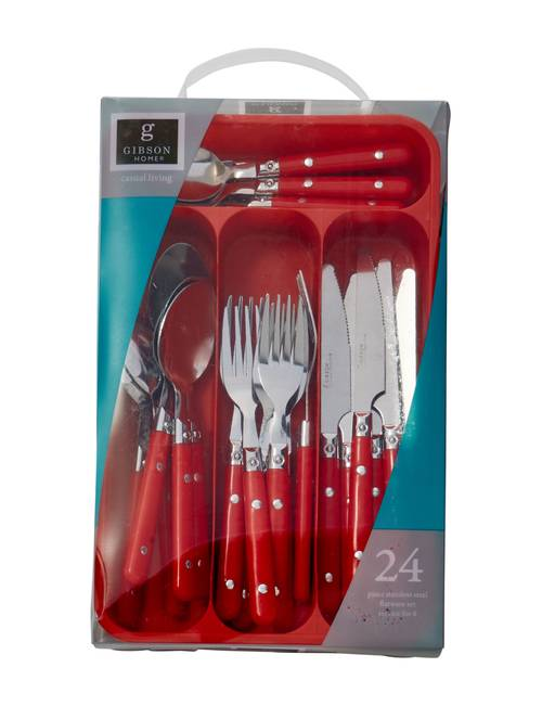 Zilpoo Flatware Storage Plastic Tray with Lid Kitchen Cutlery and Accessories Box College Dorm Room Organization Essentials Christmas Flatware Holder Red Utensil Drawer Organizer Container with Cover