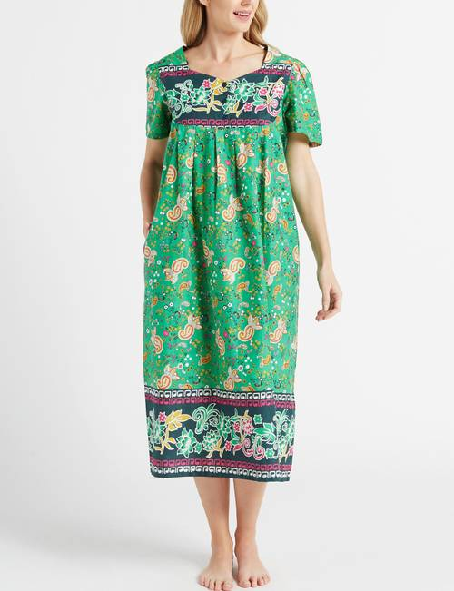Loungees Plus Size Floral Cambric House Dress | Stage Stores