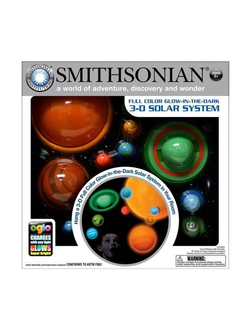 Smithsonian Full Color Glow-In-The-Dark 3D Solar System Kit