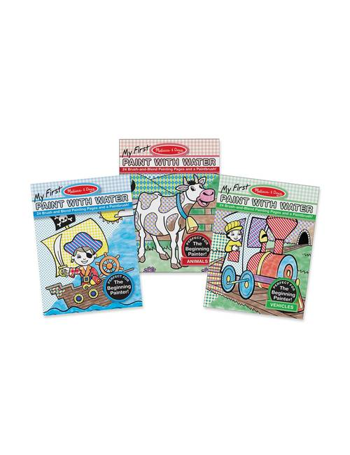 Melissa & Doug 3-pk. My First Paint with Water Coloring Book ...