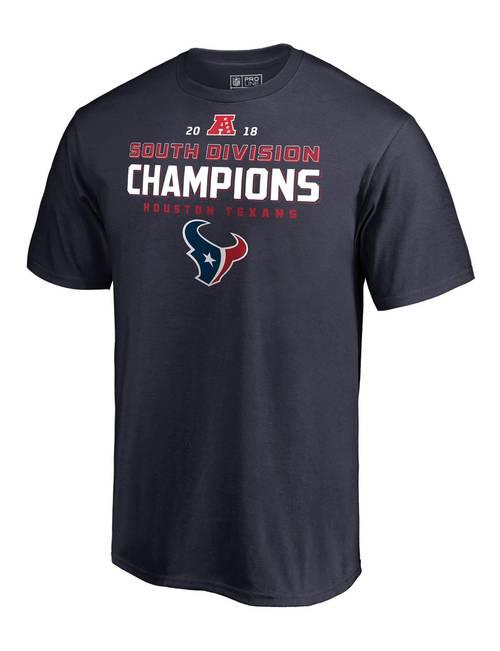 reputable site 24029 84f3b Houston Texans Men's 2018 South Division Champions T-shirt ...