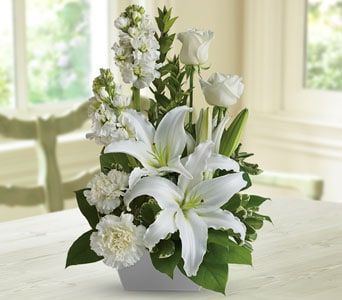 White Simplicity for flower delivery New Zealand wide