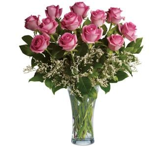 Perfect Pink Dozen for flower delivery new zealand wide