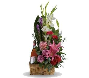 Blushing Celebration for flower delivery new zealand wide