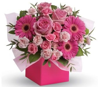 Think Pink for flower delivery united kingdom wide