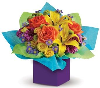 Rainbow Surprise for flower delivery united kingdom wide