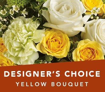 Designer's Choice Yellow Bouquet for flower delivery new zealand wide