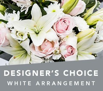 Designer's Choice White Arrangement for flower delivery australia wide