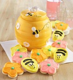 Cheryl's Bee Ceramic Cookie Jar