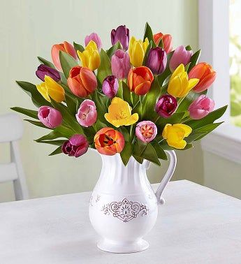 Fresh Spring Tulip Pitcher